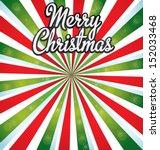 merry christmas vector sunburst.... | Shutterstock .eps vector #152033468