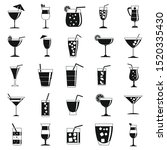 cocktail drink icons set.... | Shutterstock .eps vector #1520335430