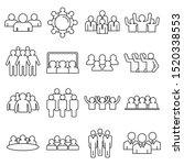 audience customer icons set.... | Shutterstock .eps vector #1520338553