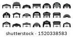 hangar icons set. simple set of ... | Shutterstock .eps vector #1520338583