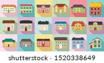 Cottage Icons Set. Flat Set Of...