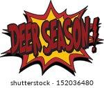 deer season - stock vector