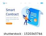 smart contract banner template. ... | Shutterstock .eps vector #1520365766