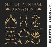 set of vintage ornament in... | Shutterstock .eps vector #1520368049