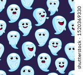 halloween cute cartoon spooky... | Shutterstock .eps vector #1520369330