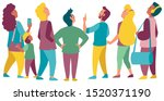 flat design of a crowd of...   Shutterstock .eps vector #1520371190