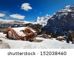 snow in swiss | Shutterstock . vector #152038460