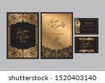 wedding invitation cards...   Shutterstock .eps vector #1520403140