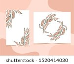 nature leaves frame background... | Shutterstock .eps vector #1520414030