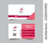 simple business card templates... | Shutterstock .eps vector #1520415983