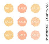 set of fall circle sale banners.... | Shutterstock .eps vector #1520440700