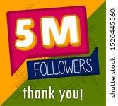 5m followers banner. thank... | Shutterstock .eps vector #1520445560