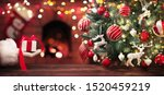 christmas tree and a gift from... | Shutterstock . vector #1520459219