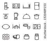 cooking line icons.  gallons ... | Shutterstock .eps vector #1520489153