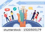 booking tour online for world... | Shutterstock .eps vector #1520505179