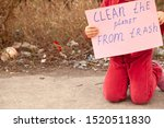 Stock photo little girl protests against nature pollution 1520511830