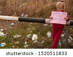 Stock photo little girl protests against nature pollution 1520511833