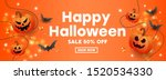 happy halloween sale banner... | Shutterstock .eps vector #1520534330