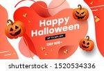 creative halloween sale vector... | Shutterstock .eps vector #1520534336