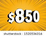 850  eight hundred fifty price... | Shutterstock .eps vector #1520536316