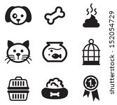 Stock vector pet icons 152054729