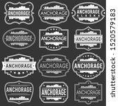 anchorage alaska skyline.... | Shutterstock .eps vector #1520579183