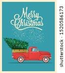 christmas card or poster design ... | Shutterstock .eps vector #1520586173