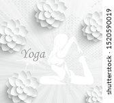 yoga pose in flat design. woman ... | Shutterstock .eps vector #1520590019