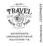 font travel back in time. craft ... | Shutterstock .eps vector #1520594819