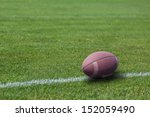 American Rugby Ball On The...