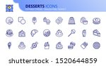 simple set of outline icons... | Shutterstock .eps vector #1520644859