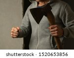 Close Up Of The Axe In The Man...