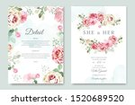 wedding card and invitation... | Shutterstock .eps vector #1520689520