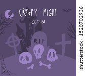 halloween night background...   Shutterstock .eps vector #1520702936