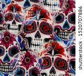 seamless watercolor pattern of... | Shutterstock . vector #1520707886
