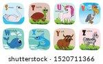 alphabet printable flashcards...   Shutterstock .eps vector #1520711366