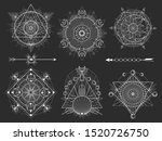 vector set of sacred geometric... | Shutterstock .eps vector #1520726750