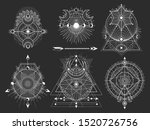 vector set of sacred geometric... | Shutterstock .eps vector #1520726756