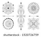 vector set of sacred geometric... | Shutterstock .eps vector #1520726759
