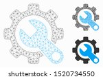 mesh service tools model with... | Shutterstock .eps vector #1520734550