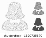 mesh woman model with triangle... | Shutterstock .eps vector #1520735870
