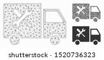 mesh service car model with... | Shutterstock .eps vector #1520736323
