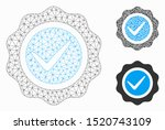 Stock vector mesh valid seal model with triangle mosaic icon wire carcass polygonal network of valid seal 1520743109