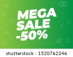modern mega sale banner and... | Shutterstock .eps vector #1520762246
