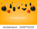 happy halloween party... | Shutterstock .eps vector #1520776133