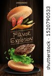 delicious hamburger ads with... | Shutterstock .eps vector #1520790533