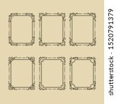 decorative frames and borders... | Shutterstock .eps vector #1520791379