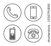 phone icon vector. call icon... | Shutterstock .eps vector #1520791850