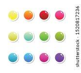 colorful plastic ui buttons set....