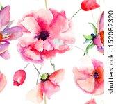 seamless pattern beautiful... | Shutterstock . vector #152082320